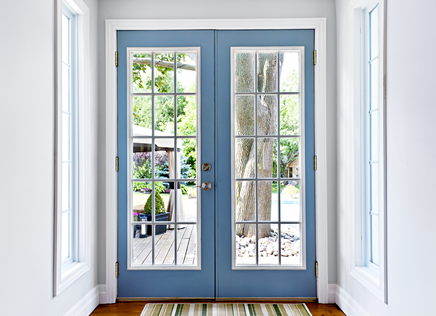 Replacement French Hinged Patio Doors In San Diego Clear